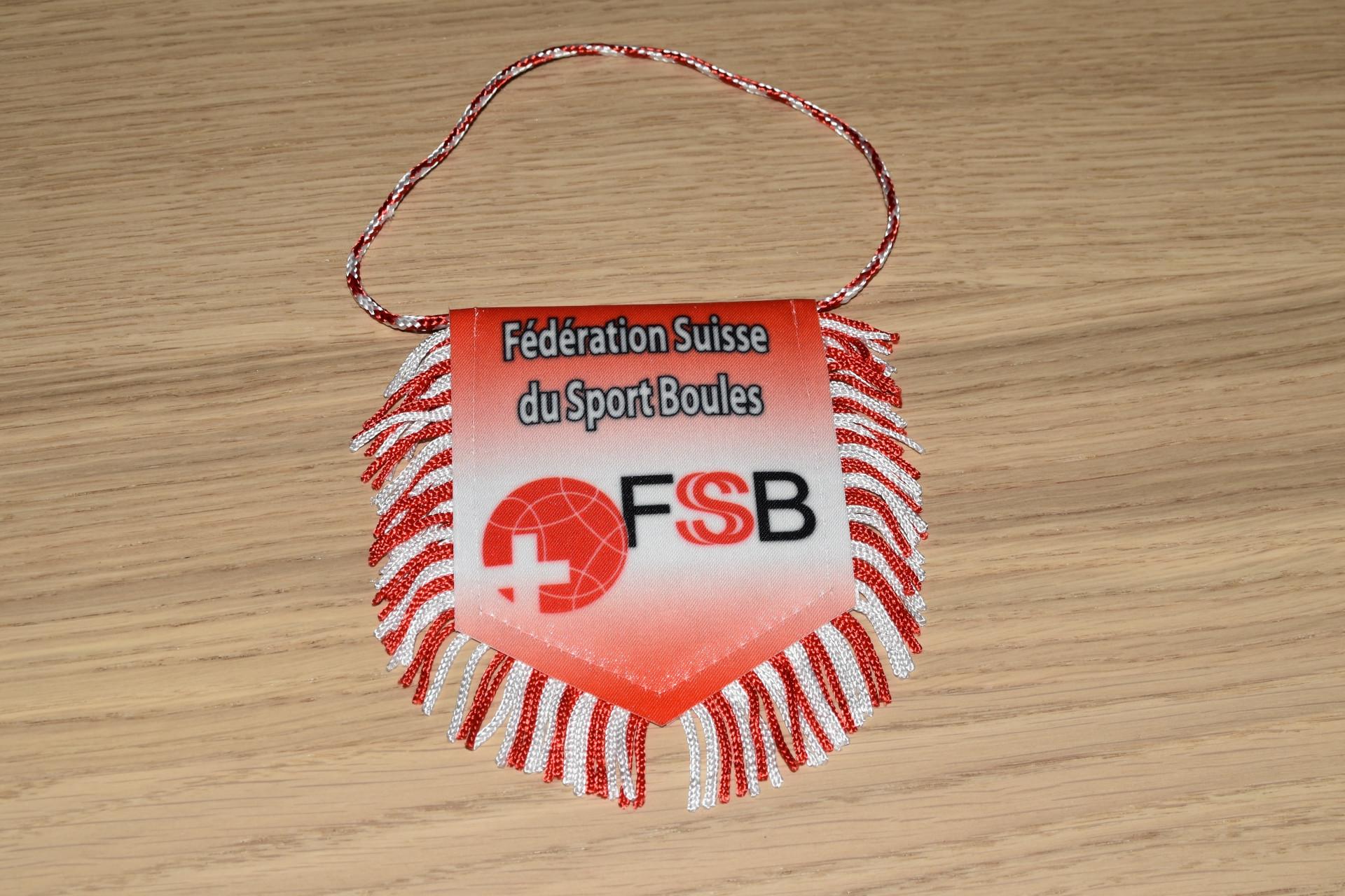 Petit fanion Fédération Suisse du Sport Boules